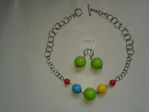 Sada náušniček a náhrdelníku Veselé koulení