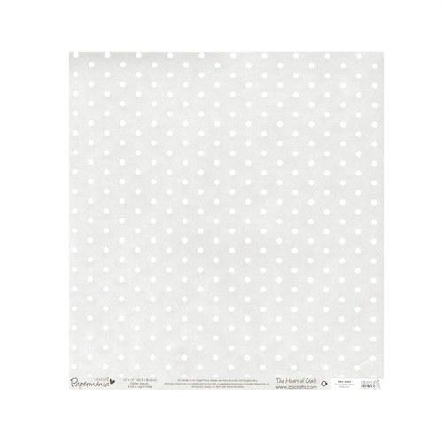 Třpytivý transparentní papír 30x30 puntíky