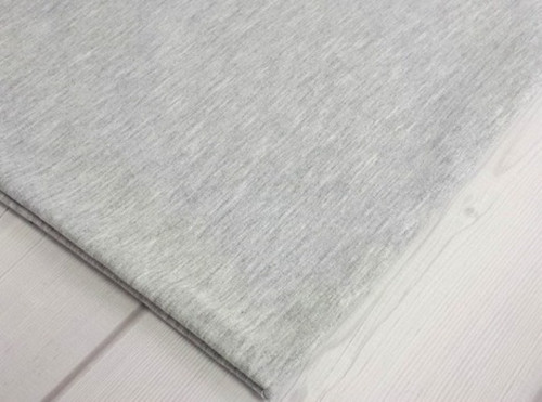 Metráž  úplet - teplákovina šedá melé