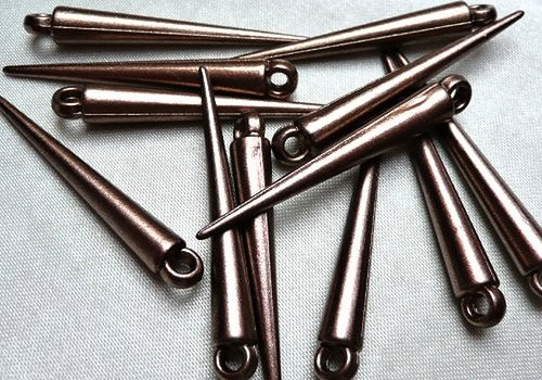 Plastová špička / hrot 35 mm - hnědá / 2 ks