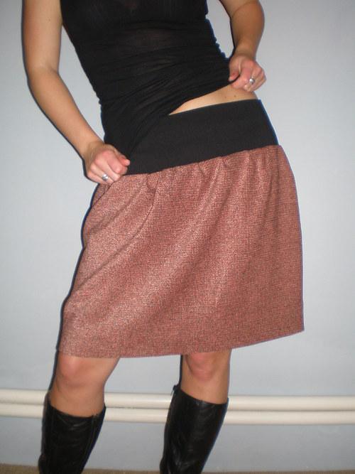 Zrzavá sukně - zimní