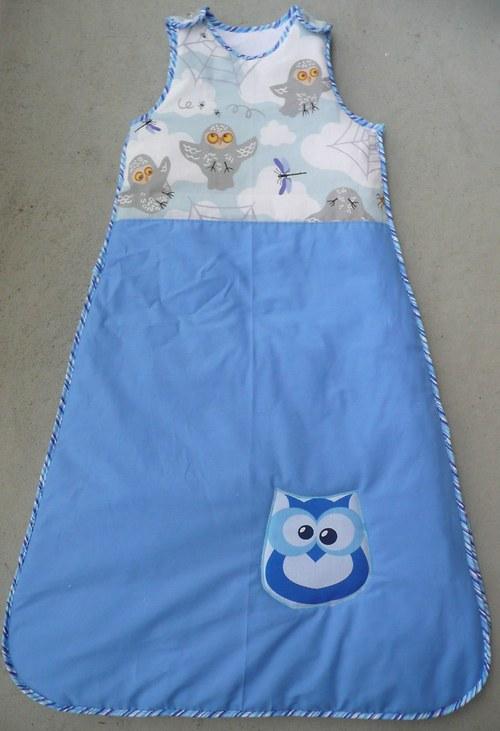 Zateplený spací pytel - sovičky - lze i holčičí