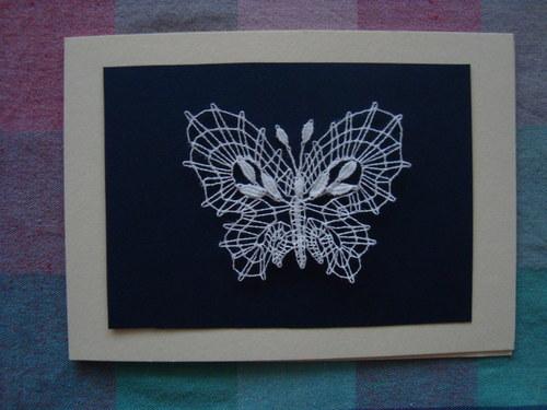 Paličkované přání - Motýlek 1