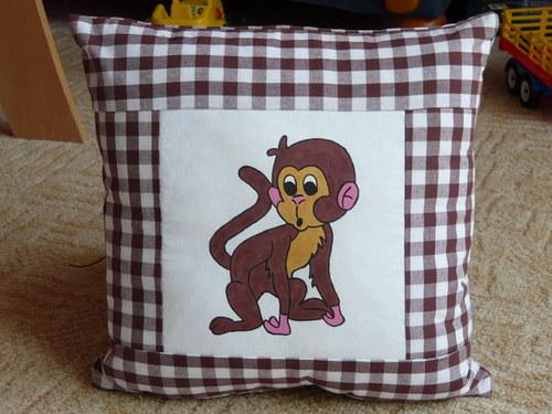 Povlak na polštář s opičkou