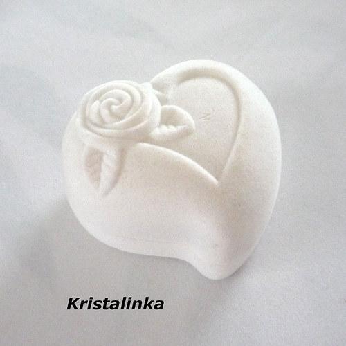 Krabička srdce......snubní prsteny