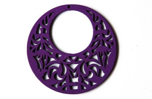 Dřevěné kolečko - fialové