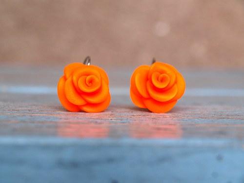 Neonky růže: oranžová