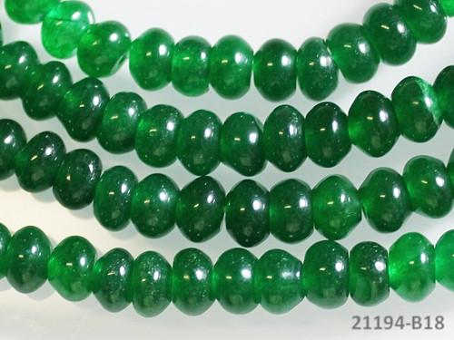 21194-B18 Rondelky JADEIT zelený 6mm, bal. 5ks