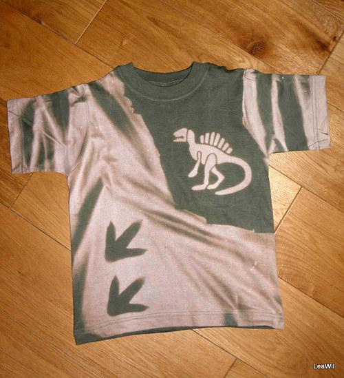 Tričko krátký rukáv - dětské 122 DINOSAUŘÍ