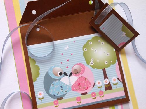 Zamilované sovičky  -  obal na CD 13x14 cm