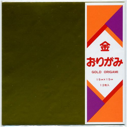 Origami Zlatý papír 12ks