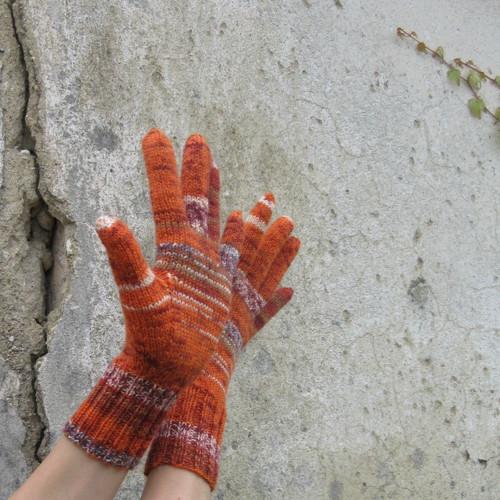 Oranžové .... prstové rukavice