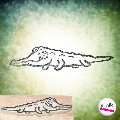 malý Nilský krokodýlek – razítko