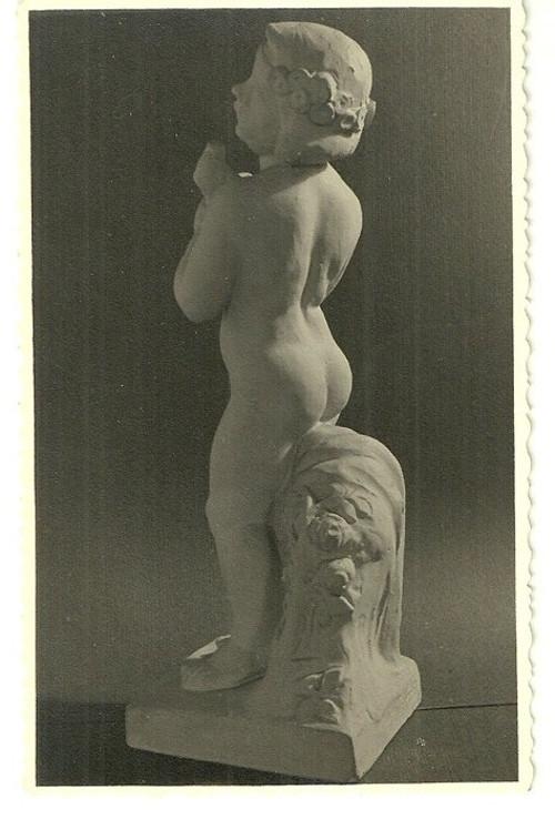 Umělecká pohlednice socha novodobý barok