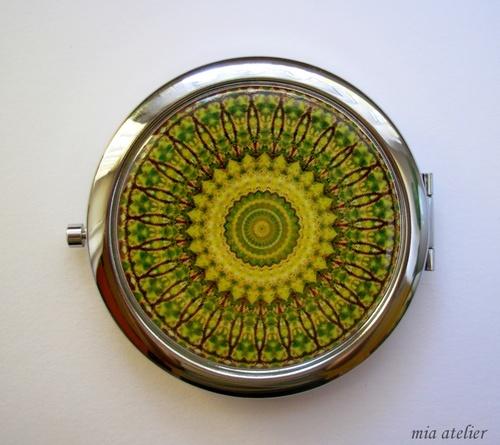Zrcátko..zelená mandala...dárkové balení