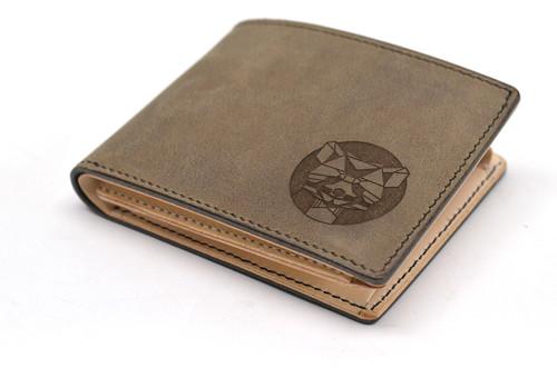 """Kožená peněženka pánská \""""geometrická panda\"""""""