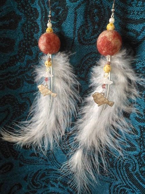 Náušničky něžný ptačí zpěv