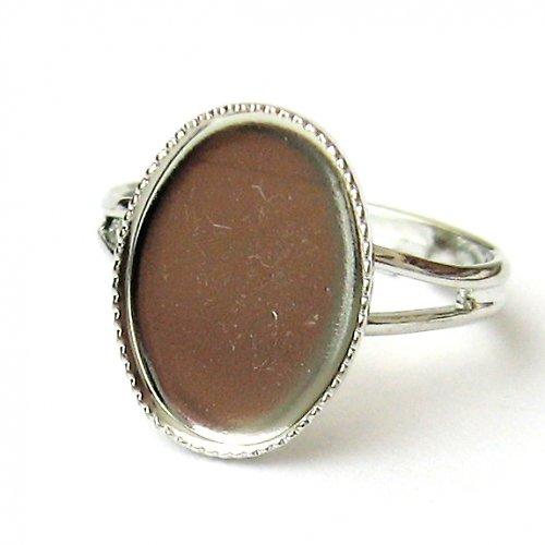 Prsten ovál - 14 x 10 mm