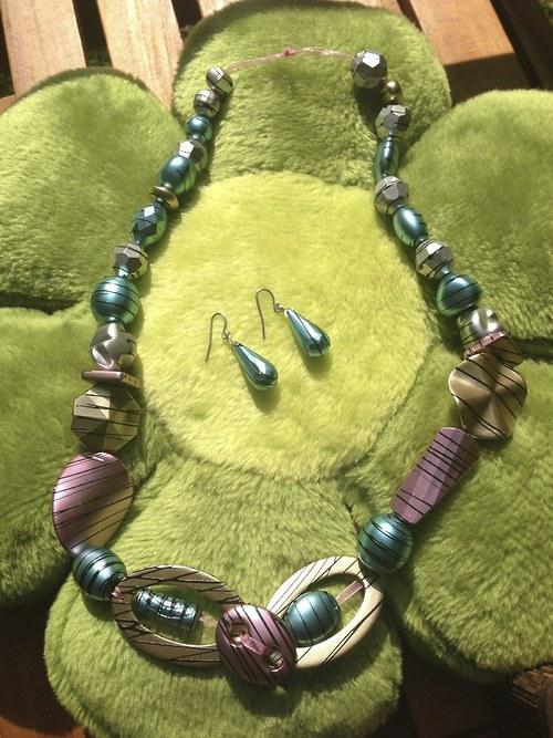 souprava Jupiter - náhrdelník a naušnice