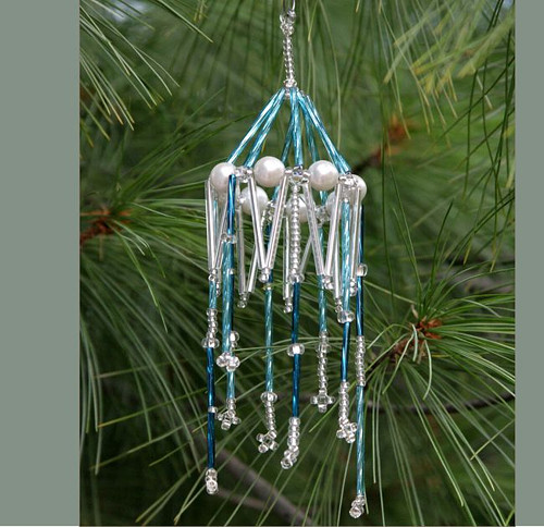 Vánoční ozdoba - modrá girlanda Vo-OZ 015