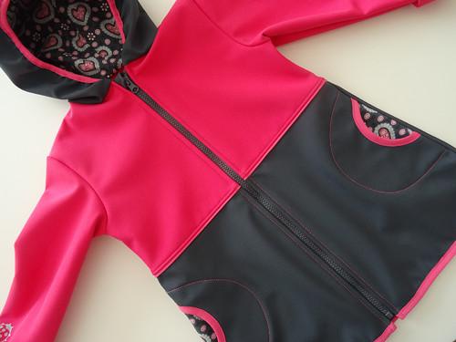 Softshellový kombinovaný kabátek pro malé slečny