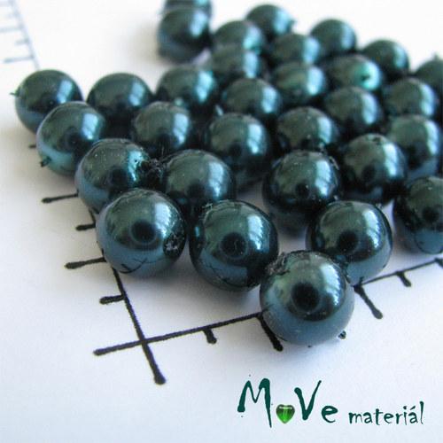 České voskové perle zelené 8mm,20g(cca32ks)
