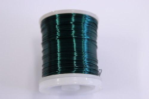 Měděný drátek 0,5mm - petrolej, návin 19-21m