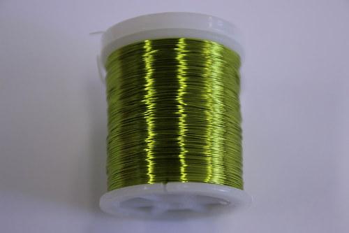 Měděný drátek 03mm - limetkový, návin 48,5-50m