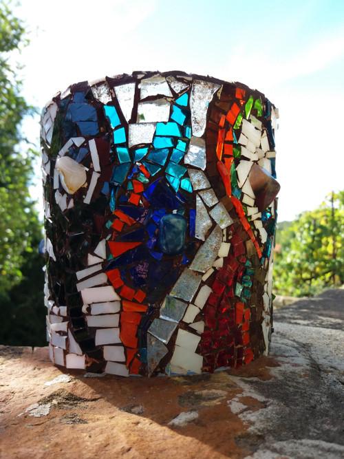 Svícen mozaikový vitrážový POUŤ