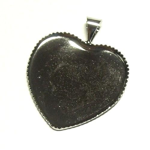 Lůžko srdce stříbrné