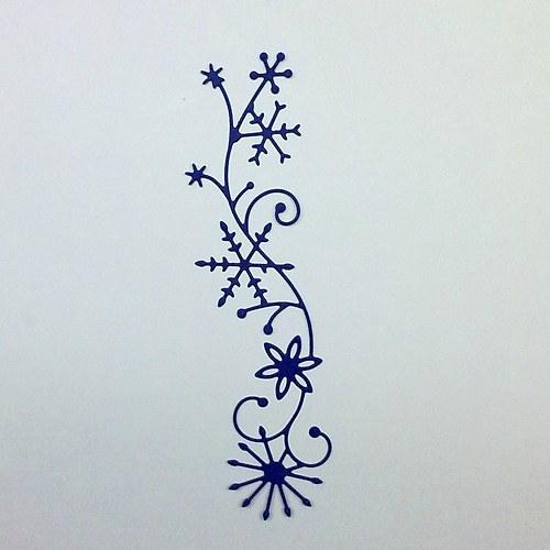 Výsek - Bordura zimní tmavě modrá