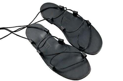 Kožené sandále Kristusky Black