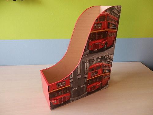 Pořadač na časopisy Londýnský autobus