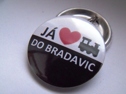 "Button ""Miluju vlak do Bradavic\"""
