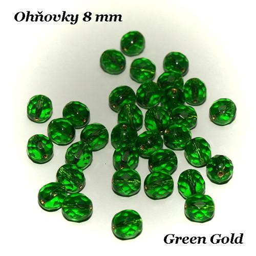 Ohňovky 8 mm Green/Gold, 10 ks