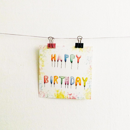 Barevné narozeninové přání