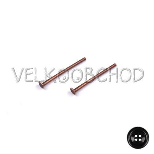 Ketlovací nýty 20 mm (50 ks) - staroměď