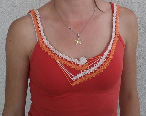 Oranžový nátělník - SLEVA
