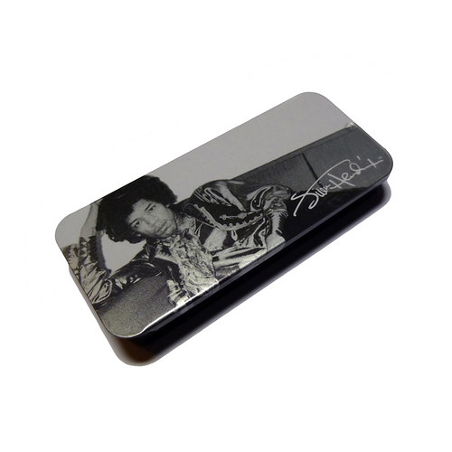 Plechová krabička Jimi Hendrix - silver