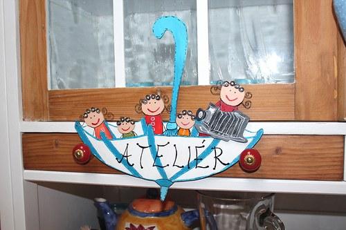 Dřevěná cedulka na dveře FOTOATELIÉRU