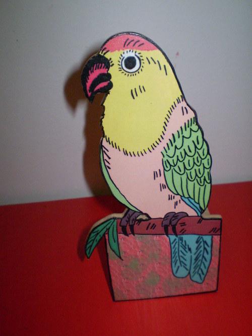 Stojánek na tužky - papoušek