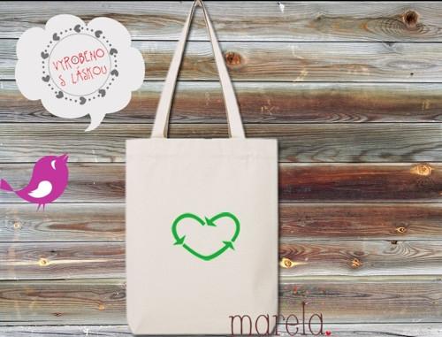 Plátěná taška recyklovaná