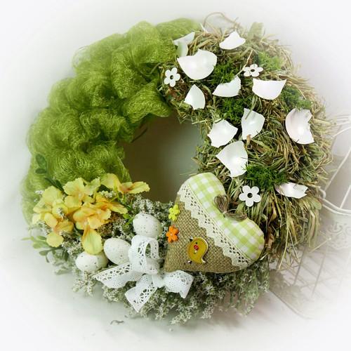 Jarní věnec - Srdíčko