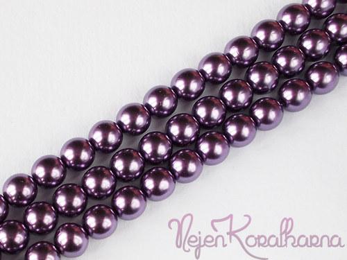 Voskové perle fialová 8mm