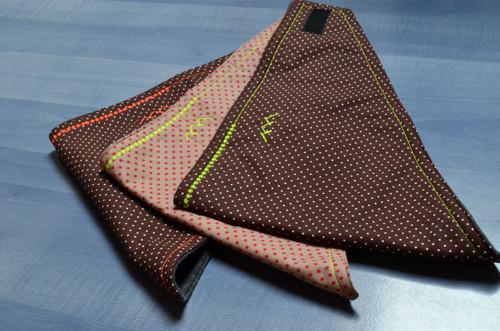 Šátek nejen na zimu....tři puntíky