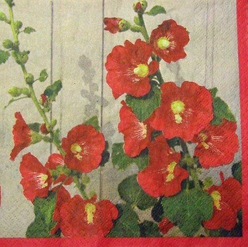 Ubrousek se slézovou růží
