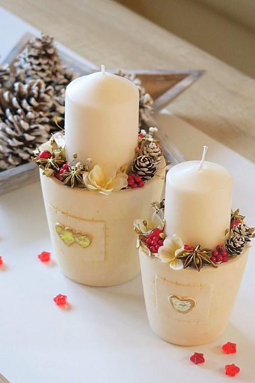 """Svícen \""""Elegantní Vánoce-větší\"""" skladem"""