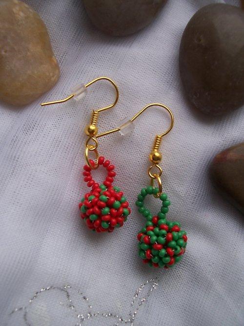 Kulaté protiklady - zelená a červená