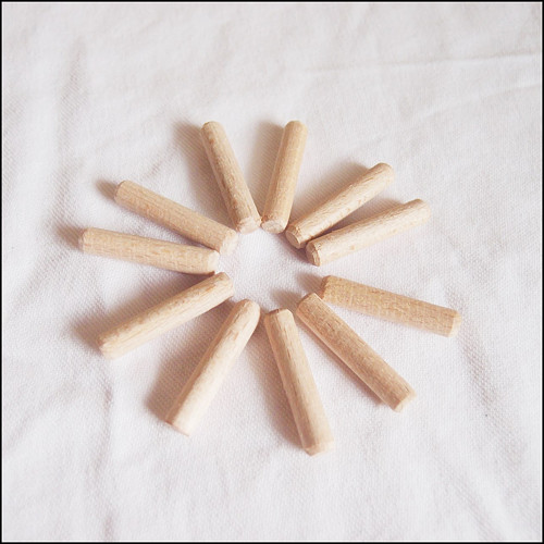 Dřevěné kolíky hladké ø6 - 30 mm (10 ks)