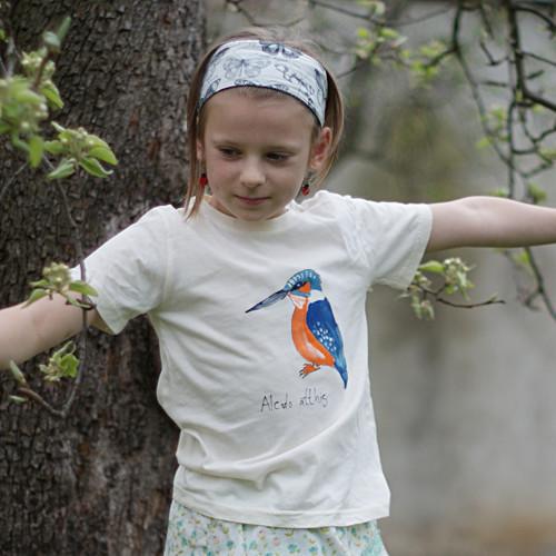Ledňáček říční ...dětské triko 7-8 let BIO